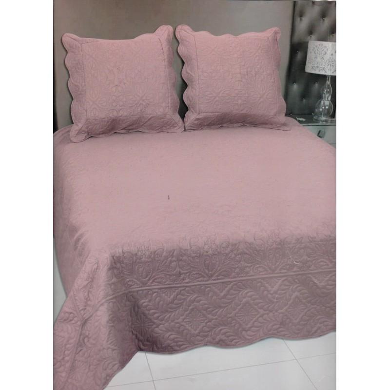 couvre lit blanc 230x250 2 caches oreiller. Black Bedroom Furniture Sets. Home Design Ideas