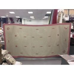 Nappe brodée 160x250cm + 8 serviettes