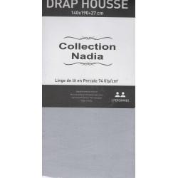 drap housse gris claire 140x190