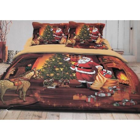 parure noel housse de couette 140x200 1 taie. Black Bedroom Furniture Sets. Home Design Ideas