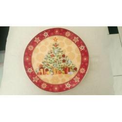 assiette à dessert de Noel