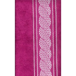serviette de toilette rose
