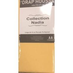 drap housse jaune