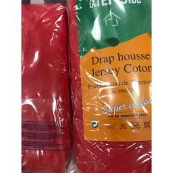 drap housse rouge