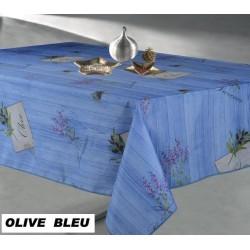 Nappe antitache OLIVE BLEU