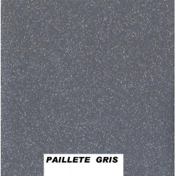 Sous nappe imprimé paillette gris