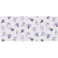 Toile cirée love lavender