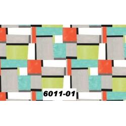 Toile cirée rectangles multicolores