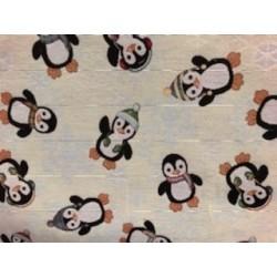 Tissus motif pingouin