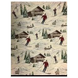 Tissus motif ski