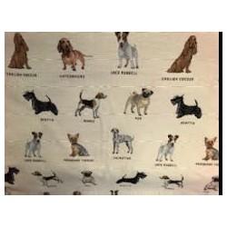 Tissus motif chien